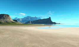 Beach scenery background Stock Images