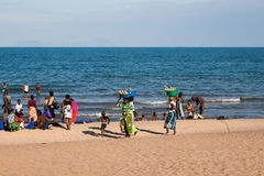 Beach scenery at Lake Malawi Stock Photos