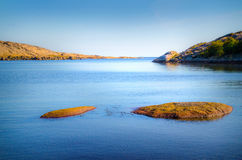 Beach scenery in Norway Stock Photos