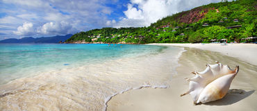 Beach scenery. Seychelles Royalty Free Stock Photo