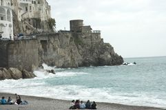Beach scenes, Amalfi, Italy royalty free stock photo