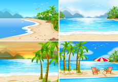 Beach scenes Royalty Free Stock Image