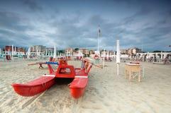 Beach scenic, Viareggio, Italy stock photos