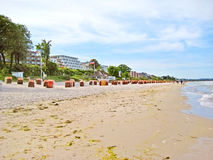 Beach in Scharbeutz, baltic sea, germany Stock Photography