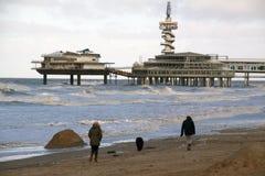 Beach Scheveningen Stock Image