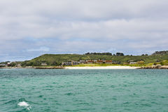 Beach Scilly Islands. White beach Scilly Islands, England Royalty Free Stock Photos