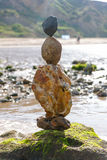 Beach sculpture on a sandy beach Royalty Free Stock Images