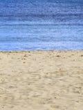Beach & Sea. Sand beach detail, typical of Mediterranean islands Stock Images