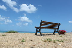 Beach and sea. Landscape on the beach to the sea, Palermo Sicily Royalty Free Stock Photography