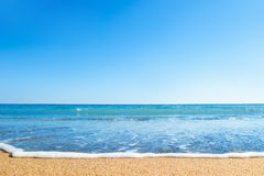 Beach and sea. Pure sky Royalty Free Stock Images