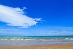 Beach and sea. With blue sky for background Royalty Free Stock Image
