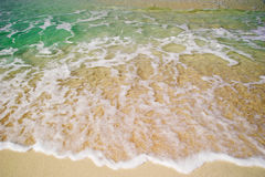 Beach and a sea Stock Photography