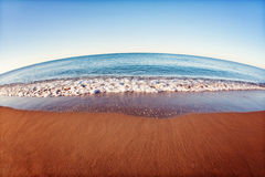 Beach and sea. Summer beach in an island stock image