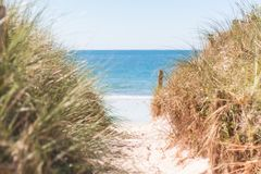 Beach and sea royalty free stock photography