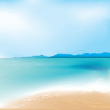 Beach and sea background Stock Photos