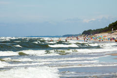 Beach by the sea Bałtycim Stock Image