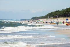 Beach by the sea Bałtycim Royalty Free Stock Photography