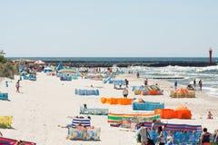 Beach by the sea Bałtycim Stock Photos