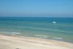 Beach sea and boat royalty free stock photo