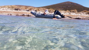 Beach. Sea boat water summer royalty free stock images