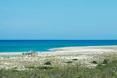 Beach and sea Cabo Pulmo Baja California national park panorama Royalty Free Stock Images