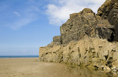 Beach and sea cliffs Stock Photos
