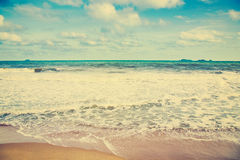 Beach sea and clouds in summer Stock Photography