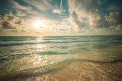 Beach, sea and deep blue sky Royalty Free Stock Photography