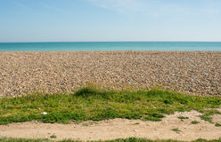 Beach and sea at Ferring, Worthing, England Royalty Free Stock Image