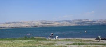 A Beach on Sea of Galilee or Kinneret, Israel Stock Photo