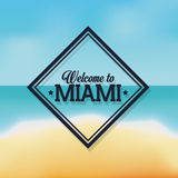 Beach and Sea icon. Miami florida design.Vector graphic Stock Image
