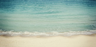 Beach and sea landscape website banner design.  Stock Photo