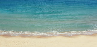 Beach and sea landscape website banner design Royalty Free Stock Photos
