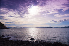 Beach and sea in the morning. Royalty Free Stock Photos