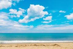 Beach sea ocean sand blue water tropical island Stock Photo