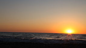 Beach sea ocean sunset waves stock video