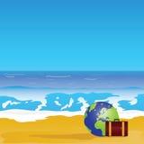 Beach and sea paradise color  Stock Photos