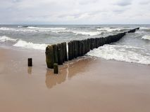 Beach and sea in Poland royalty free stock images