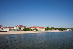 Beach and Sea in Resort Town of Sopot Royalty Free Stock Images