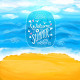 Beach, sea, sand. Summer background. Royalty Free Stock Photo