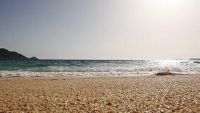 Beach, sea, sand,wave. Tropical beach, blue sky, clouds. Seascape ocean and beautiful beach paradise. Beach, sea, sand,wave. Tropical beach, blue sky, clouds stock video footage