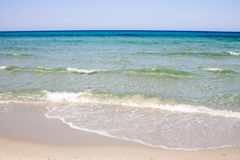 Beach and Sea. In Sardegna, italy stock photography