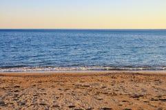 Beach sea and sky. Beautiful beach with sea and sky Stock Photo