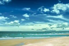 Beach, sea and sky. Beautiful nature Royalty Free Stock Photos