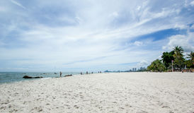 Beach and  sea with sky. At Huahin Royalty Free Stock Images