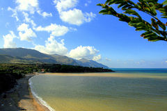Beach, sea & sky, Sicily Stock Photography