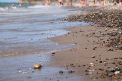 Beach. Sea summer Italy Sicily Stock Photos