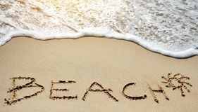 Beach sea sun - holiday concept Royalty Free Stock Image