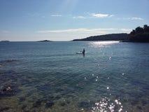Beach sea sunshine. Sunny weekend in Croatia Royalty Free Stock Photo