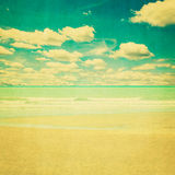 Beach sea vintage with paper texture Stock Photo